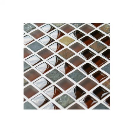 Cobblestone Glass and Stone Mosaic Tiles