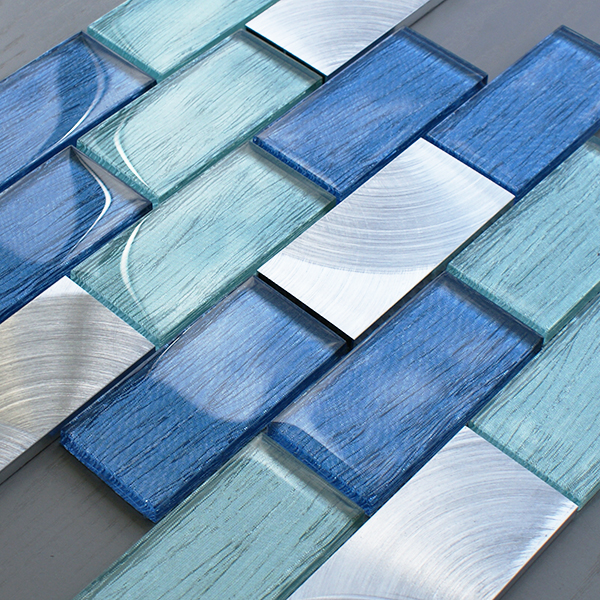 Portland blue brick tiles craft for Mosaic tiles for craft