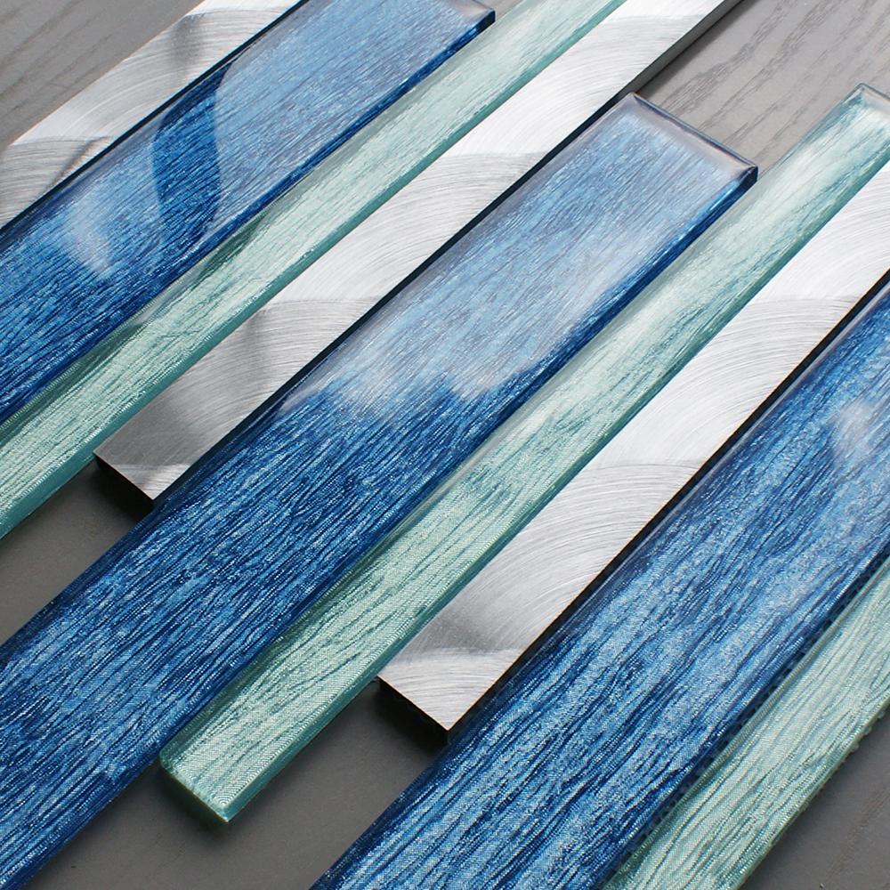 portland blue linear tiles craft