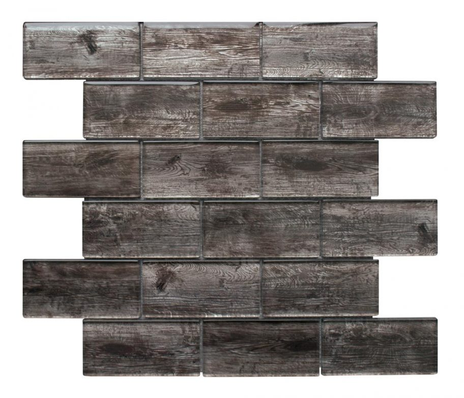 Frontier Hickory glass mosaic tiles