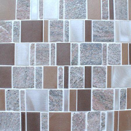 Meteor multi format bronze mosaic tiles