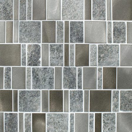 Meteor multi format grey mosaic tiles