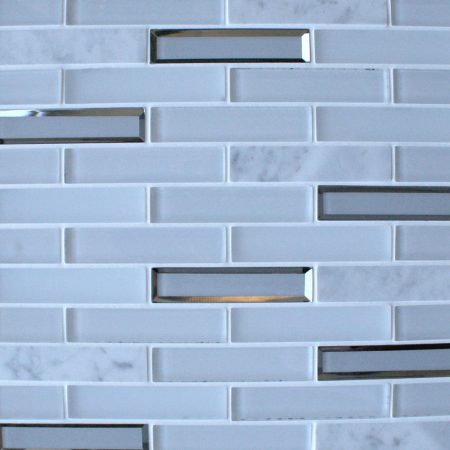 Milan White glass brick mosaic