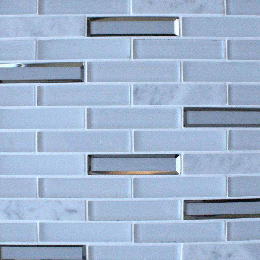 Milan White glass brick mosaic