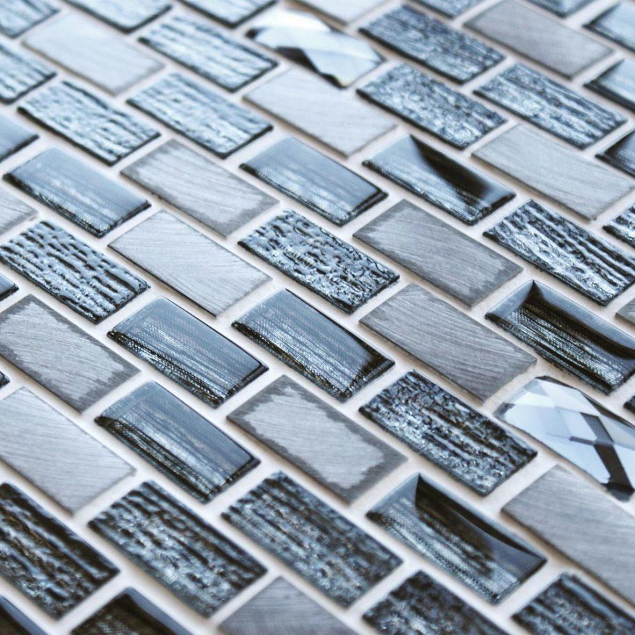 Tiffany Grey mosaic brick tiles