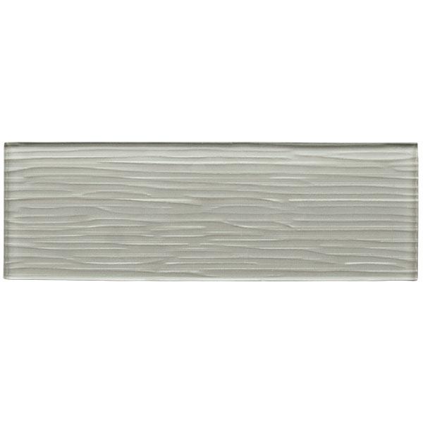 Liberty Silver Grey Glass Brick Tile