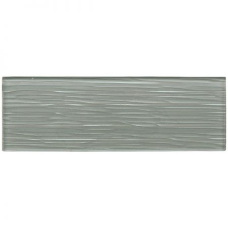 Liberty Zinc Grey Glass Brick Tile