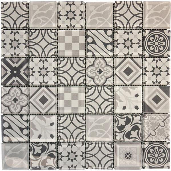 Arabesque Grey Mosaic Tiles